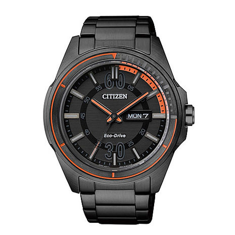 CITIZEN Eco-Drive 光動能。搶眼雅痞造型腕錶 (AW0035-51E)