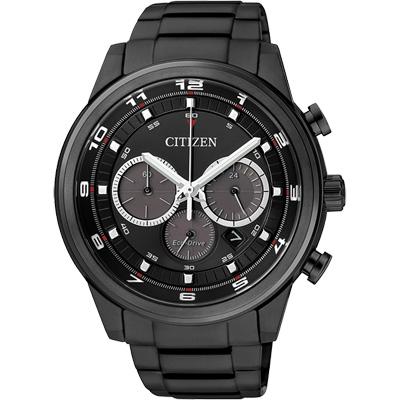 《CITIZEN》Eco-Drive 雅爵型男時尚計時腕錶CA4035-57E-IP黑/44mm