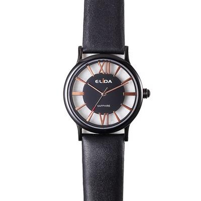 《ELIDA》羅馬假期鏤空時尚腕錶EA2910MB-BG-黑金/38mm