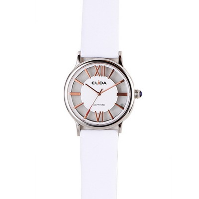 《ELIDA》羅馬假期鏤空時尚腕錶EA2910LS-WG-白/34mm