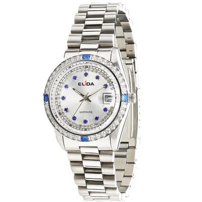 《ELIDA》 蠔式晶鑽時尚腕錶EA2900DM-WW (銀/36mm)