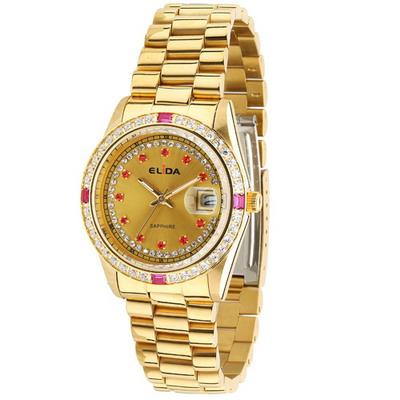 《ELIDA》 蠔式晶鑽時尚腕錶EA2900DM-KK (金/36mm)