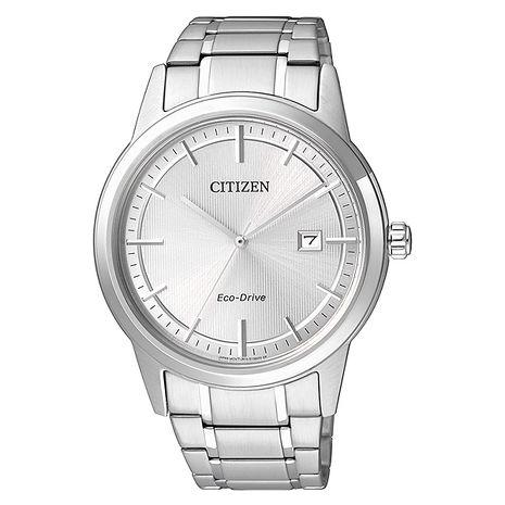 【CITIZEN】Eco-Drive 品味都會 經典紳士鋼帶腕錶-銀/40mm(AW1231-58A)