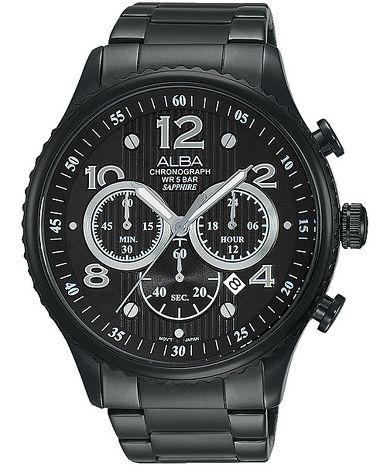 【ALBA】海軍休閒潮流時尚三眼計時腕錶 (VD53-X236SD/AT3953X1)
