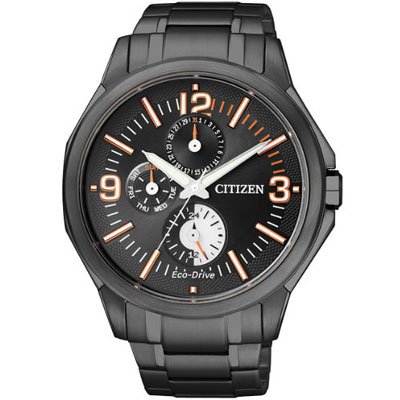 【CITIZEN】Eco-Drive 黑暗騎士光動能時尚腕錶-IP黑/42mm (AP4005-54E)