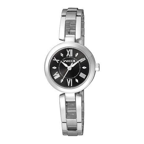 【CITIZEN星辰】wicca 優雅純淨 個性時尚手鐲式腕錶-黑 (BG3-911-51)