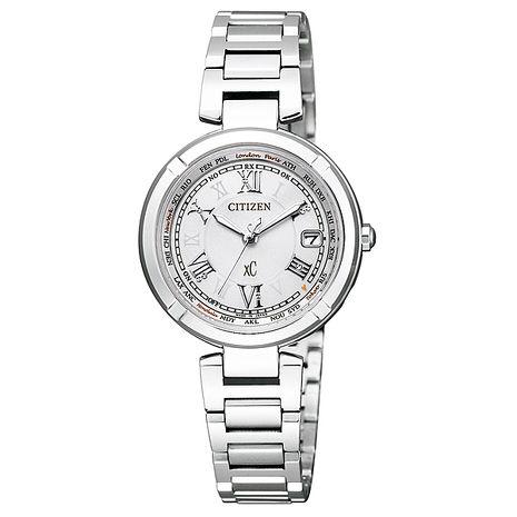 【CITIZEN星辰】羅馬風情 鈦金屬全球電波光動能腕錶-銀/28mm (EC1110-52A)