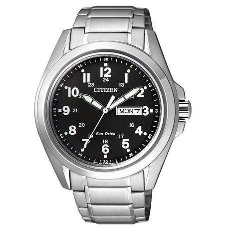 【CITIZEN星辰】Eco-Drive光動能 復古設計專業形象腕錶-黑/43mm (AW0050-58E)