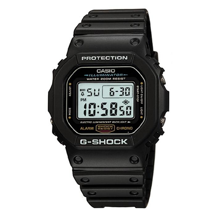 CASIO G-SHOCK 頭文字D G-SHOCK經典代表作(DW-5600E-1耐用電子錶