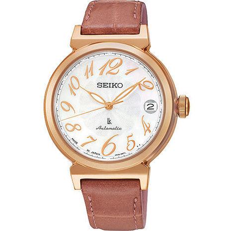 【SEIKO精工】LUKIA 時光的禮物 知性機械皮帶腕錶-廣告主打(4R35-00J0G/SRP868J1)