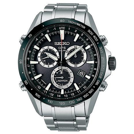 【SEIKO精工】ASTRON GPS衛星 太陽能計時腕錶-黑(8X82-0AC0D/SSE011J1)