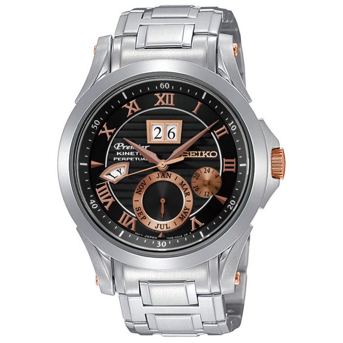 【SEIKO 精工】Premier 王者之風萬年曆人動能腕錶(7D48-0AL0K/SNP062J1)