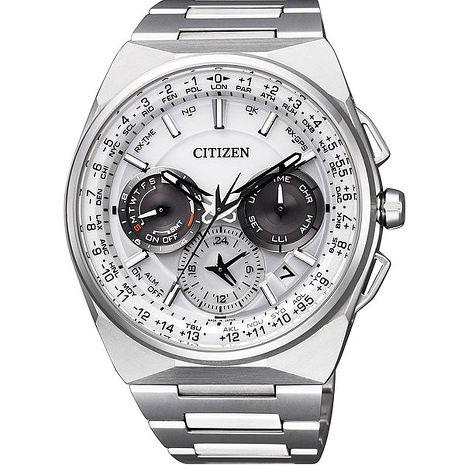 【CITIZEN 星辰】限定款未來感GPS衛星對時光動能鋼帶腕錶(CC9000-51A)