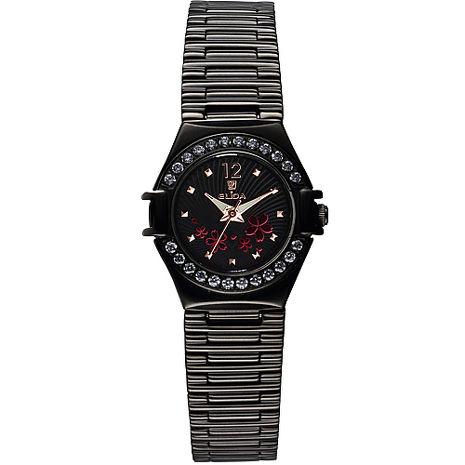 【ELIDA】簡約花漾腕錶(EA2919DLB-DF)(1.1折)