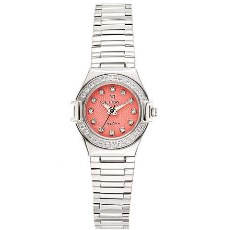 【ELIDA】馬卡龍晶鑽腕錶-粉橘(EA2919LS-R)