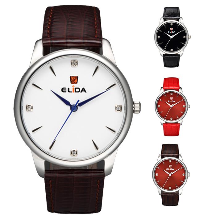 【ELIDA】簡約哲學知性大錶徑皮帶腕錶(多款)