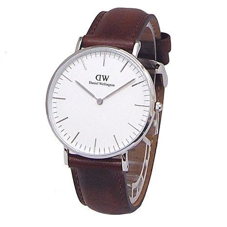 【Daniel Wellington/DW】Classic St Mawes 古典簡約 時尚腕錶-咖啡x銀/36mm 0607DW