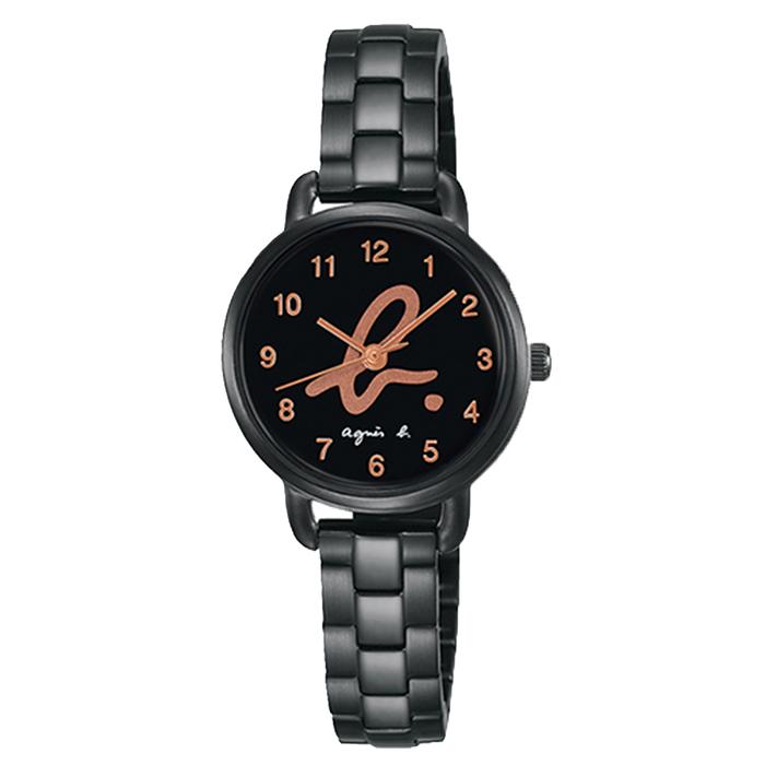 【agnes b.】經典LOGO海外市場限定時尚對錶-金/26mmVJ21-KH40SD/ BH8043X1