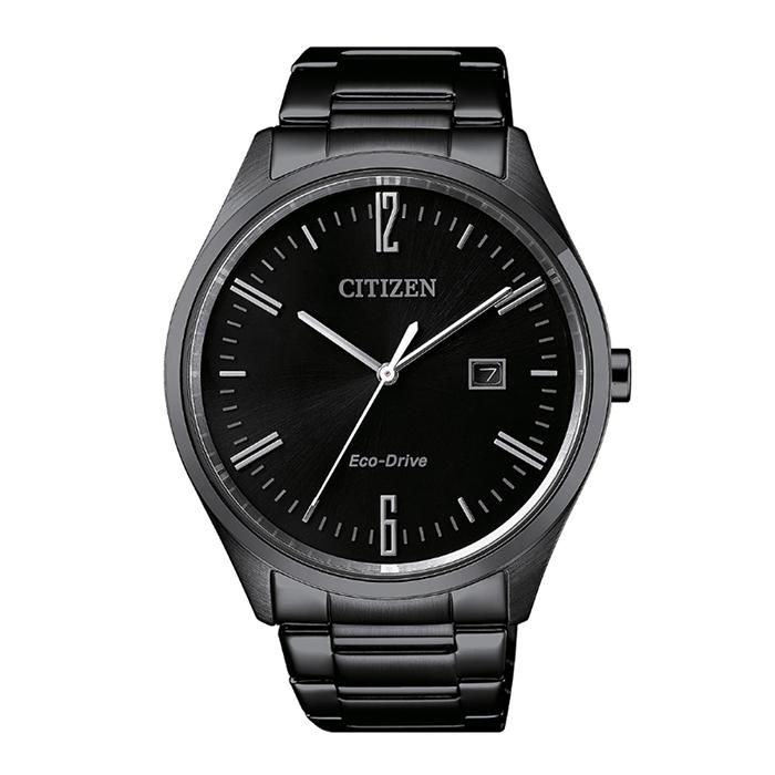 【CITIZEN星辰】GENT'S系列低調簡約品味時尚光動能腕錶-黑/42mmBM7355-82E