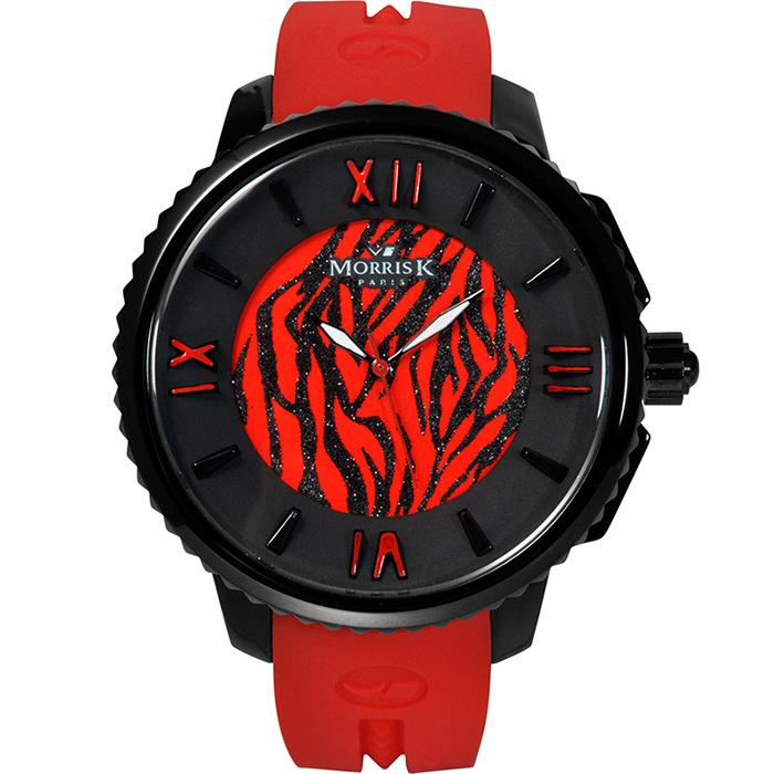 《MORRIS K》舞極限限量個性腕錶-火焰紅/45mm (MK10205-AB01)