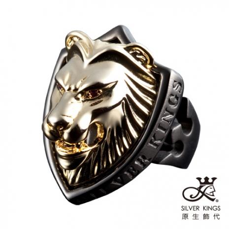 原生飾代SilverKings 獅領域 316L白鋼戒指(金)
