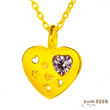 【J'code真愛密碼】 滿心愛意純金項鍊