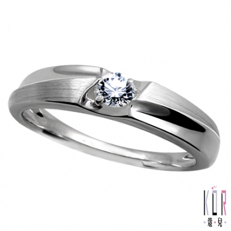 【K'or蔻兒】 真愛幸福0.1克拉鑽石戒指(女)# 7