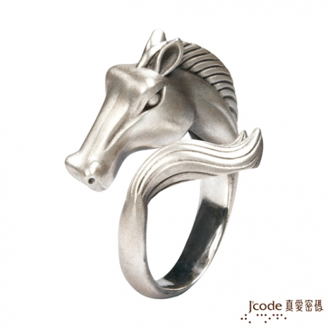 J'code真愛密碼 萬馬奔騰古銀戒指(預購)