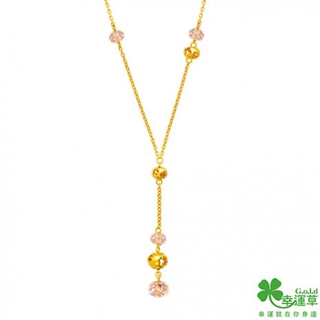 幸運草 布拉格之戀黃金/水晶項鍊(預購)