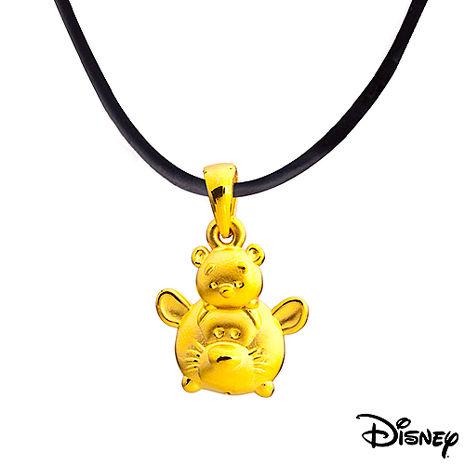Disney迪士尼金飾 TSUM好朋友系列跳跳虎維尼黃金墬子 送項鍊