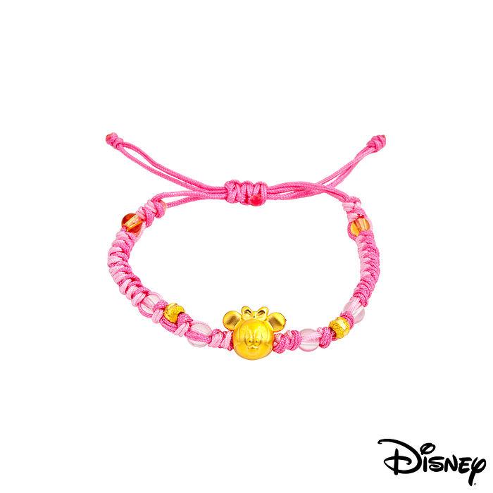 Disney迪士尼金飾 雀躍美妮黃金編織手鍊之三-美妝‧保養‧香氛‧精品-myfone購物