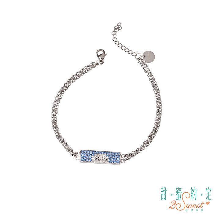 甜蜜約定 Doraemon 神秘哆啦A夢白鋼手鍊-藍(特賣)