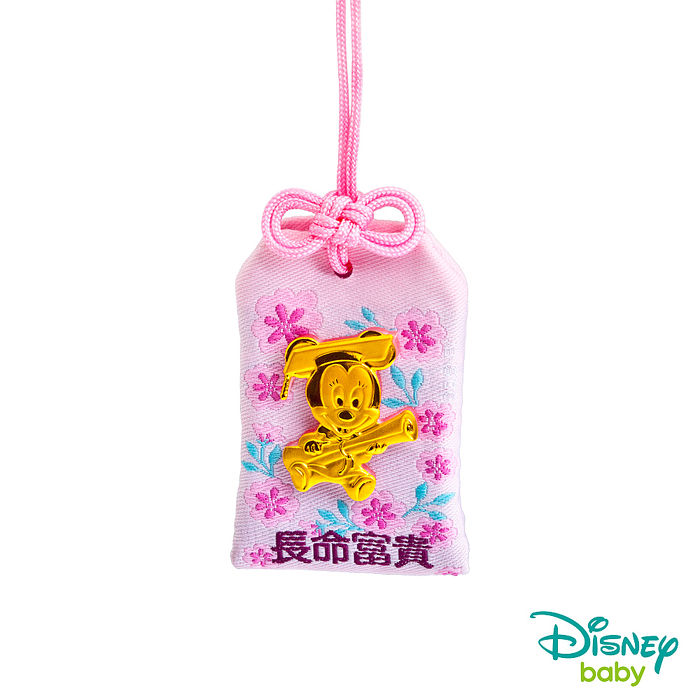 Disney迪士尼系列金飾 黃金御守吊飾-聰明美妮款