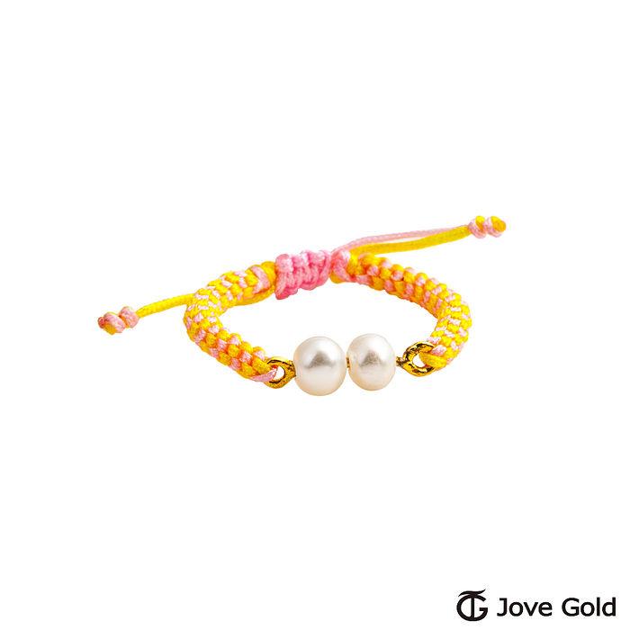 【預購】Jove gold 親親寶貝黃金編織繩戒指