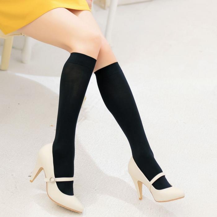 【華貴絲襪】全彈性時尚中統襪(4雙)