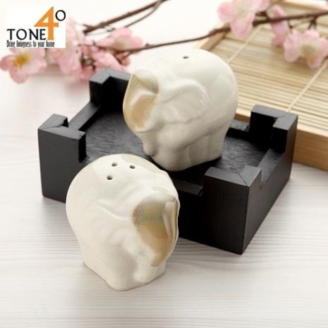 【Tone 40】【釉彩象】胡椒/鹽調味罐組
