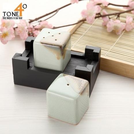 【Tone 40】【釉彩石】胡椒/鹽調味罐組