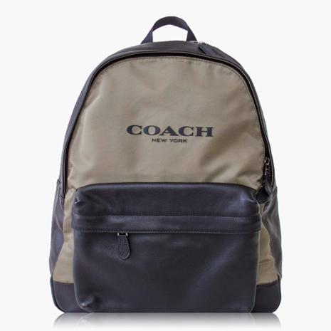 【COACH旅行必備】尼龍 / 背包 / 後背包_墨綠黑