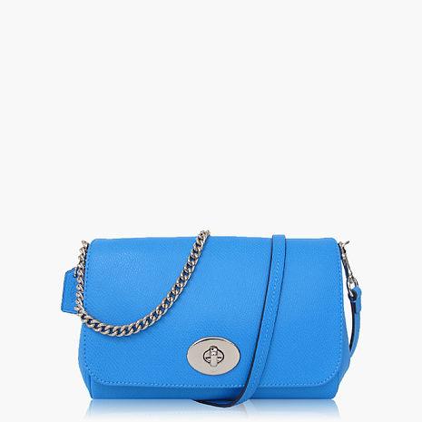 【COACH多種背法】皮革 / 肩背 / 斜背兩用包(小款)_水藍-美妝‧保養‧香氛‧精品-myfone購物