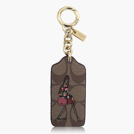 【COACH造型飾品】PVC / 吊飾 / 鑰匙圈 咖啡
