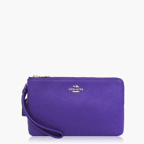 【COACH攜帶便利】皮革 / 晚宴包 / 手拿包(大款) 紫色