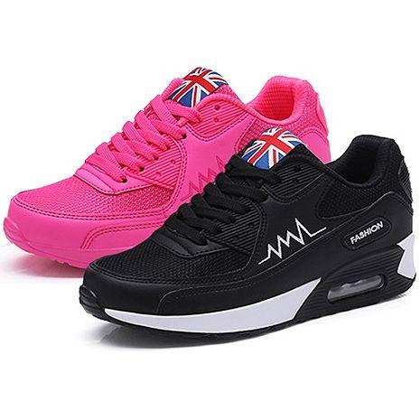 【Alice韓系館】Y1127歐美純色流線氣墊式美型鞋- 預購黑37