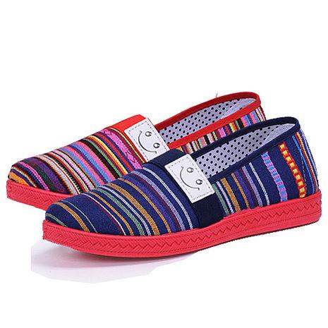 【Alice韓系館】Y1197繽粉舒適橫紋懶人鞋- 預購-服飾‧鞋包‧內著‧手錶-myfone購物