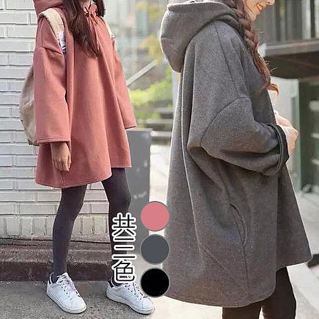 【韓國K.W】KM803 韓系休閒連帽造型上衣 M~2XL(預購)粉2XL