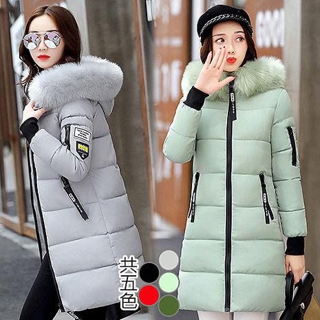【韓國K.W】KMM1092 韓系時尚毛領造型百搭羽絨棉外套XL~3XL(預購)淺綠2XL