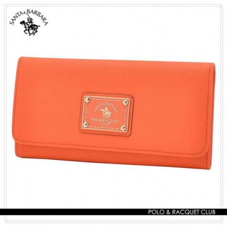 SANTA BARBARA POLO - 幸福微糖系列 單釦長夾-香橙橘 SB58-03309