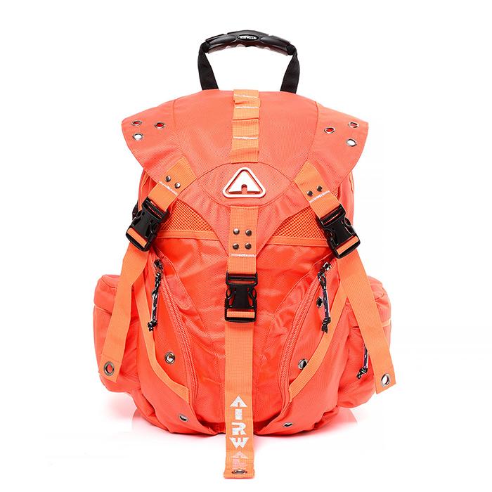 AIRWALK - 繽紛原色三叉扣系列後背包 - 大 - 橘 - A431322452