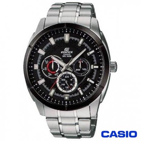 CASIO EDIFICE金屬系列 鋼帶三眼多功能錶EF-327D-1A