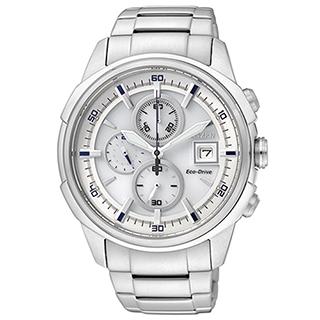 CITIZEN 宇宙戰艦三眼計時腕錶 CA0370-54A