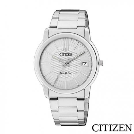 CITIZEN 星辰 概念躍動光動能日期腕錶 銀白 FE6010-50A
